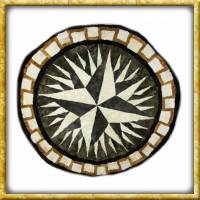 Lammfelldecke Black/White Star - Durchmesser 150cm