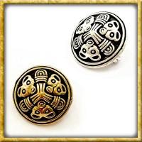 Wikinger Scheibenfibel Birka - Silber oder Bronze