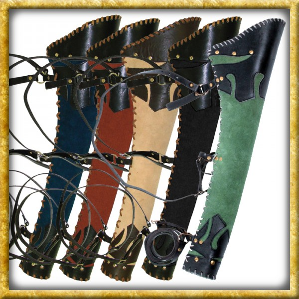 LARP Köcher Ranger aus Leder - Verschiedene Farben