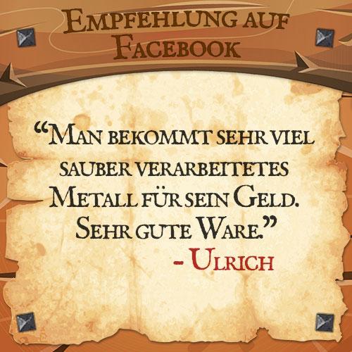 Facebook Bewertung Ulrich | Drachenhort