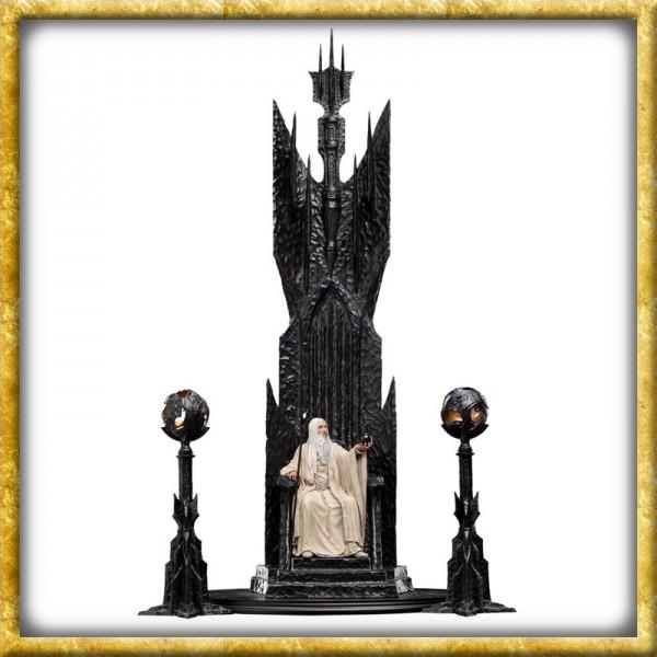 Herr der Ringe - Statue Saruman der Weisse auf Thron