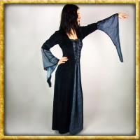 Gotisches Kleid mit Trompetenärmeln - Schwarz/Grau