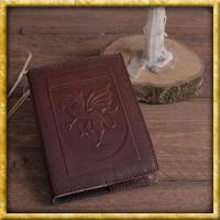 Notizbuch mit Einband aus geprägtem Leder