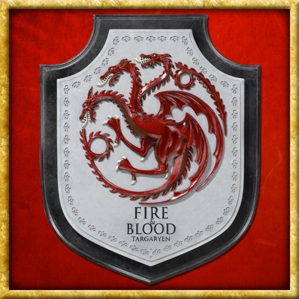 Wandschmuck - Wappen Targaryen