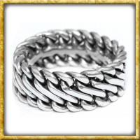 Wikingerring aus Silber mit Flechtmuster
