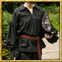 Mittelalterhemd Aramis - Schwarz