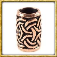 Bartperle mit keltischem Knoten - Bronze
