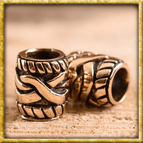 Bartperle mit keltischem Muster - Bronze