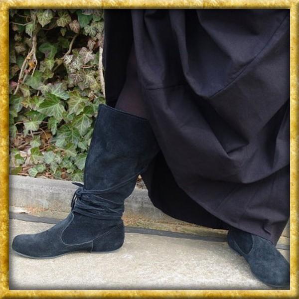 Stiefel aus Wildleder - Schwarz