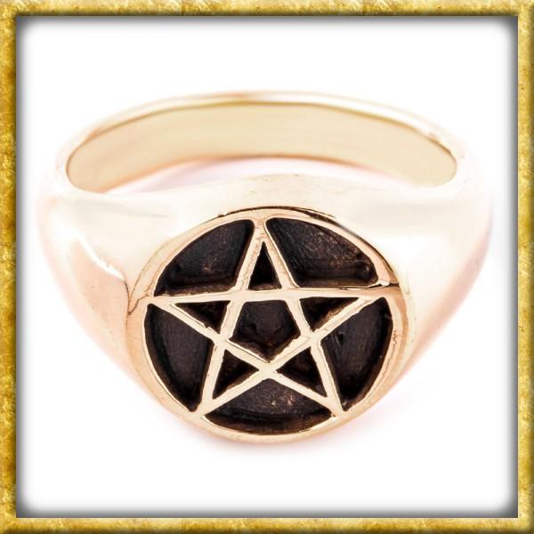Siegelring aus Bronze - Pentagramm