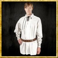 Langes Baumwollhemd - Weiss