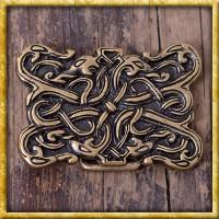 Gürtelschnalle Wikinger Schlangenwesen - Silber oder Bronze