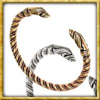 Wikinger Armreif Rabenköpfe - Silber oder Bronze
