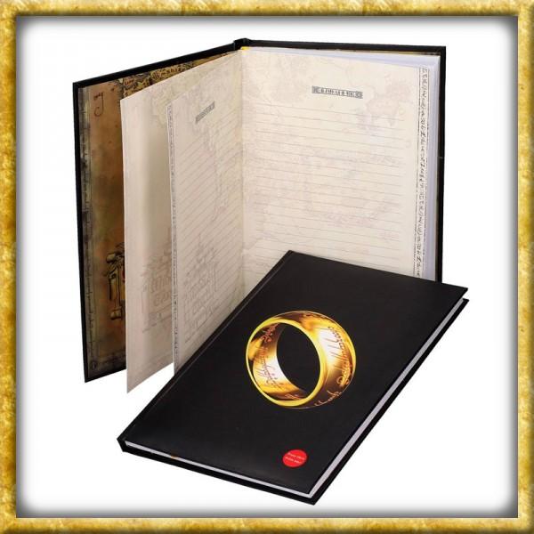 Herr der Ringe - Der Eine Ring Notizbuch Gross mit Leuchtfunktion