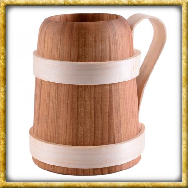 Bierkrug aus Holz - ca. 0,5 Liter