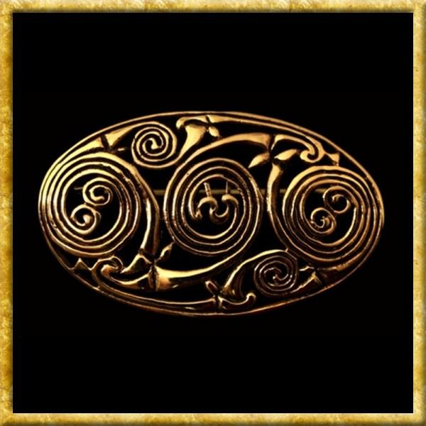Keltische Brosche mit Spiralmuster - Bronze