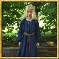 Mittelalterkleid Ana für Kinder - Blau