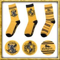Harr Potter - Socken Hufflepuff 3er Pack