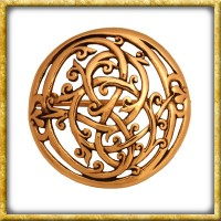 Wikinger Brosche Urnes Stil - Bronze