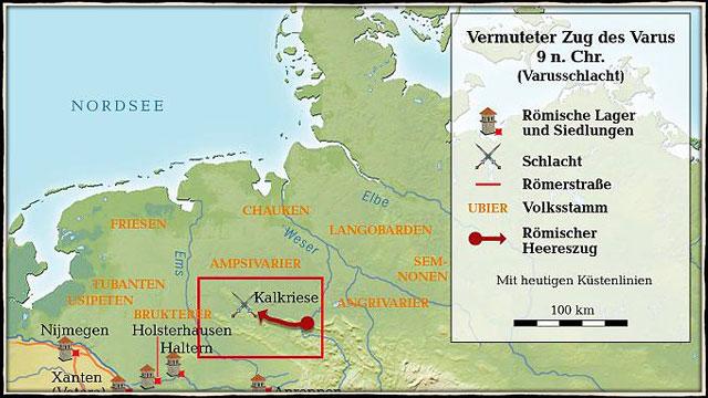 Zug der Römer durch Germanien