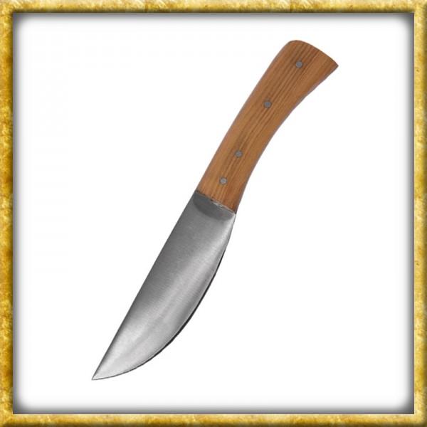 Spätmitterlalterliches Messer mit Griff aus Olivenholz