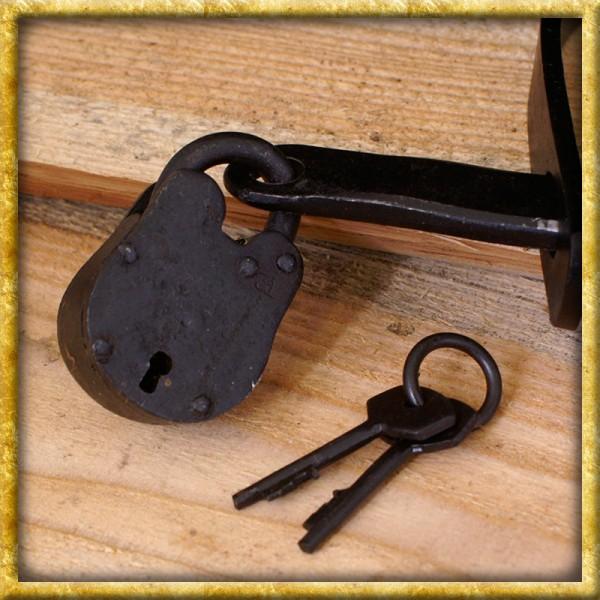 Mittelalterliche Handschellen aus Stahl