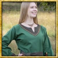Wikinger Kleid mit Gürtel Jona - Grün