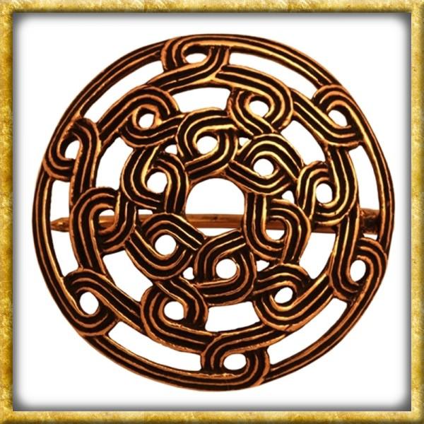 Wikinger Fibel mit Knotenmuster - Bronze