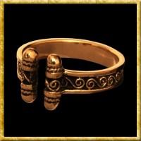 Wikingerring mit Spiralen aus Bronze