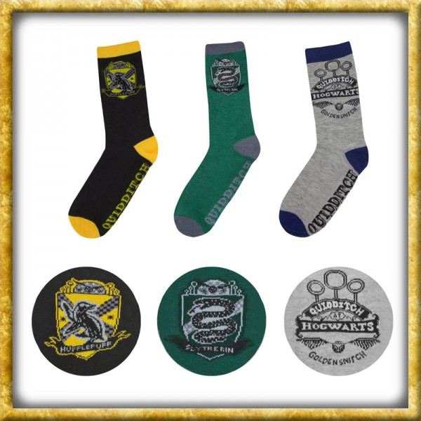 Harry Potter - Socken 3er-Pack Quidditch Hogwarts
