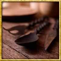 Mittelalter Essbesteck mit Tasche - 3teilig