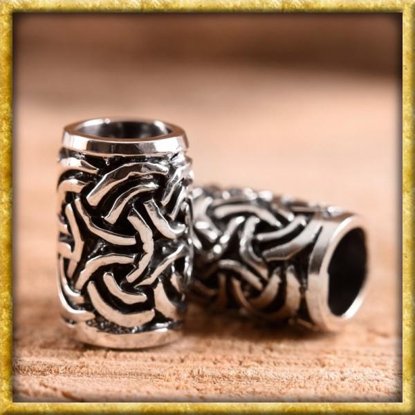 Bartperle mit sechs keltischem Knoten - Silber