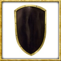 LARP Wappenschild Ready for Battle - Schwarz/Gold