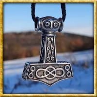 Wikinger Anhänger Thors Hammer Sterling Silber