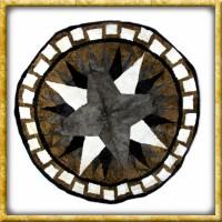 Lammfelldecke Grey Star - Durchmesser 150cm