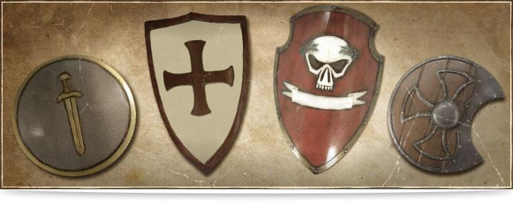 LARP Wappenschild, Rundschilde, Buckler & mehr | Drachenhort