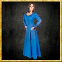 Kleid mit Ärmelschnürung - Blau