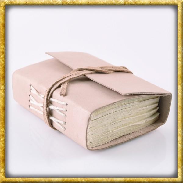 Kleines Notizbuch mit Ledereinband - Naturfarben