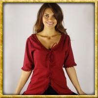 Bluse mit Spitze - Rot