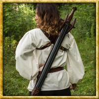 Rückengeschirr für lange Schwerter - Dunkelbraun