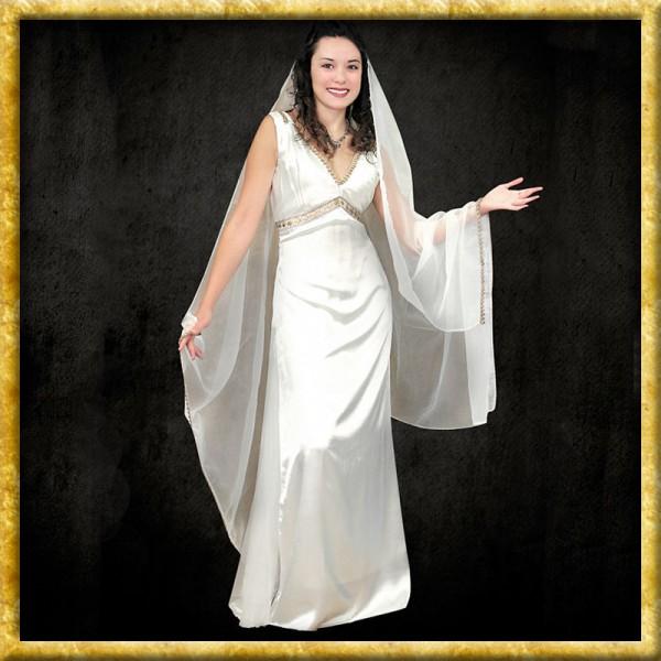 Satin Kleid mit Schleier