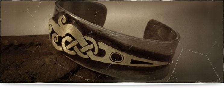 Mittelalter Armreifen aus Metall | Drachenhort