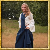 Mittelalter Überkleid Surcot Andra - Dunkelblau
