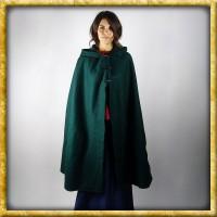 Schwerer Damenumhang mit langen Knöpfen - Grün