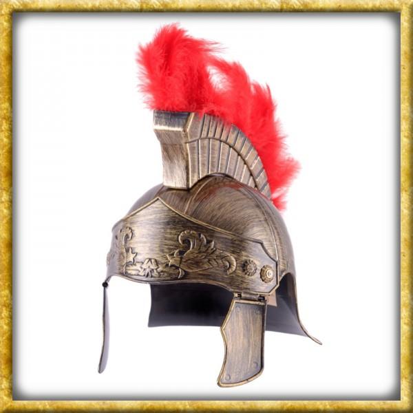 Goldener Römerhelm mit Helmbusch für Kinder