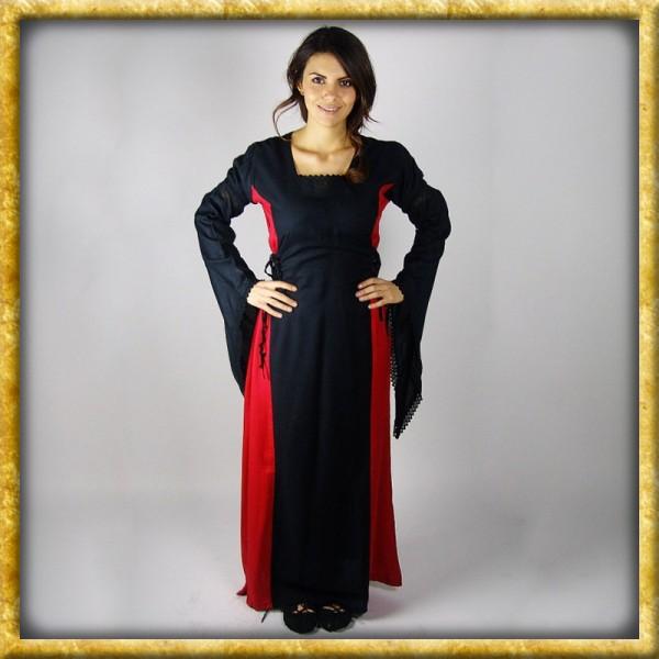 Kleid mit Trompetenärmeln und Spitze - Diverse Farben