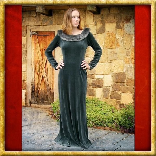 Mittelalterliches Winterkleid - Grün