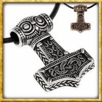 Anhänger Thors Hammer Mjölnir Ödeshög - Silber oder Bronze