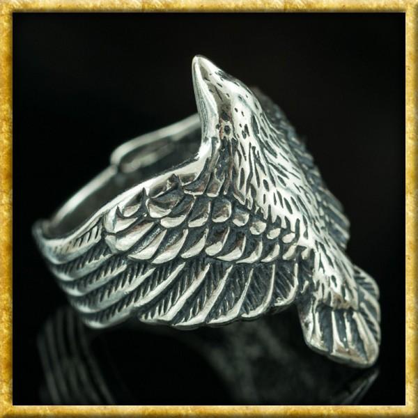 Krähenring Raven aus Silber