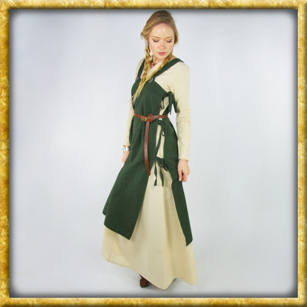 Wikinger Überkleid Hildegard - Grün